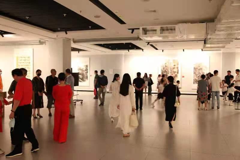 """2021""""红色历程""""连云港市庆祝中国共产党成立100周年美术、书法作品展开幕"""